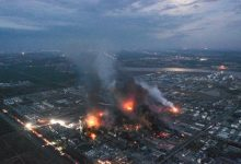 explosions through china